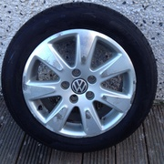 VW Passat Alloy Wheels with Brand New Tyres - (never on the road).